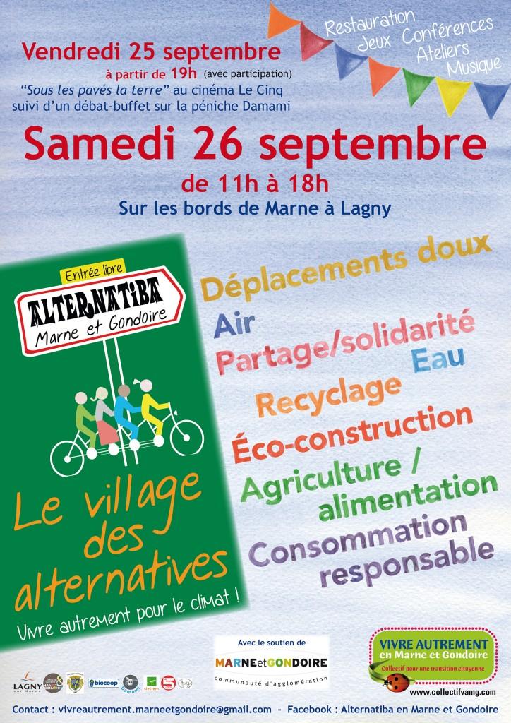 Affichette Alternatiba Marne et gondoire Le village des Alternatives