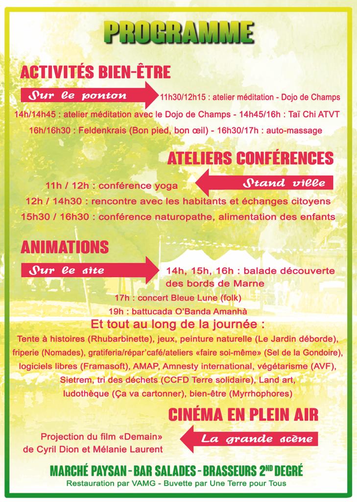 Programme du Festival éco-solidaire