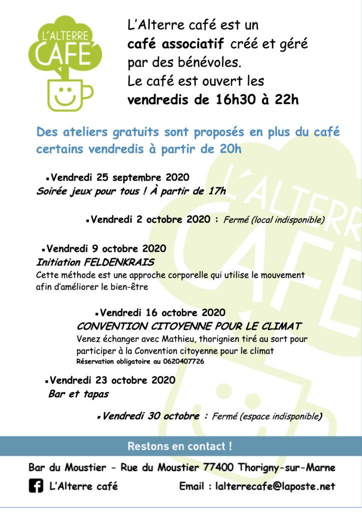 Programme Alterre Café